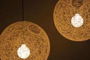 Deckenlampe im Wohnzimmer