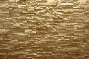 Wanddekoration steinwand