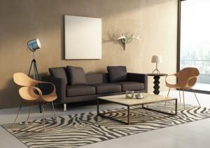 Wohnzimmer im Afrika-Style